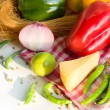 Fresh homegrown vegetables and chees — Stock Photo #18473395