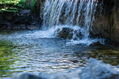 A small stream with a waterfall — Stock Photo