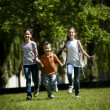 Stock Photo: Children running