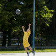 Little boy playing basketball — Stock Photo