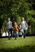 Children running — Stock Photo