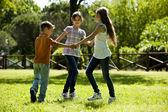 Children playing ring-around-the-rosy — Stock Photo