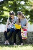 Little girls after school — Stock Photo