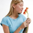 Smell flowers — Stock Photo #4166372