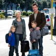 Family waiting for the bus — Stock Photo #44705665