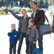 Family waiting for the bus — Stock Photo #44705909