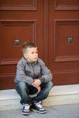 Pensive little boy — Stock Photo
