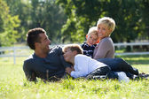 Family enjoying spring day — Stock Photo