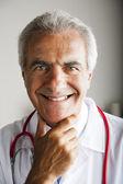 Happy senior doctor — Stock Photo