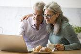 Пожилые супружеские пары на Пк — Стоковое фото