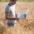 Young agronomist — Stock Photo #48685901