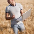 Young agronomist — Stock Photo #48685903