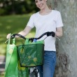 Young woman with reusable bags — Stock Photo #48686449