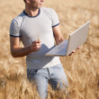 Young agronomist — Stock Photo #48686913