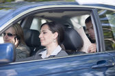 Business people sharing car — Stock Photo