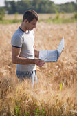Young agronomist — Stock Photo