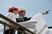 Architects inspecting site — Foto Stock