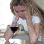 Depressed house wife — Stock Photo