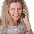 Woman on cell phone — Stock Photo
