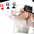 4 queens poker — Stock Photo