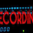 Recording sign — Stockfoto