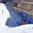 Stock Photo: Climbing Island Peak (Imja Tse) in Nepal. Mount summit.