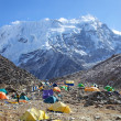 Mount Island Peak (Imja Tse) base camp, Nepal — Stock Photo