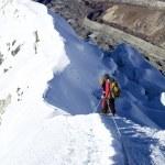 Climbing Island Peak (Imja Tse) in Nepal. Mount summit. — Stock Photo