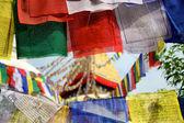 Boudhanath templet och tibetansk bön flaggor i katmandu, nepal — Stockfoto