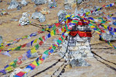 Memorial stone for deceased climbers in himalaya mountains, Nepal — Stock Photo