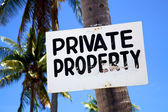 Private Property sign on a beach on Malapascua island, Philippines — Stock Photo