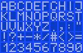 Alphabet, uppercase — Stock Vector