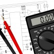 Royalty-Free Stock Vector Image: Digital multimeter