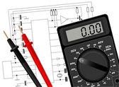Digital multimeter — Stock Vector
