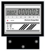 Electronic Energy Meter — Stock Vector