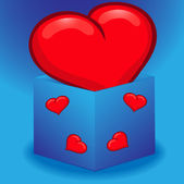 Heart in a box — Stock Vector