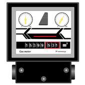 Naturgas meter — Stockvektor