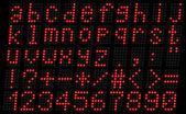 Alphabet, lowercase red — Stock Vector