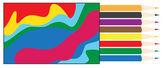 Box of colored pencils — Stock Vector