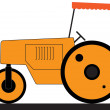 Stock Vector: Asphalt road roller