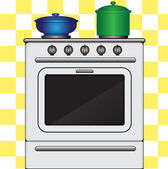 Kitchen stove — Stock Vector