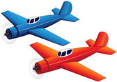 Toy planes — Stock Vector
