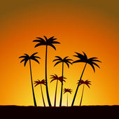 Sommar solnedgång — Stockvektor