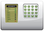 The panel of the security system — Stock Vector