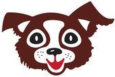 Head of little dog — Stock Vector