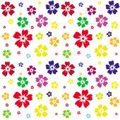 Seamless pattern of flowers on a white background — Stock Vector