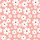 Seamless pattern with flowers on a pink background — Stock Vector