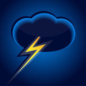 Cloud and lightning — Stock Vector