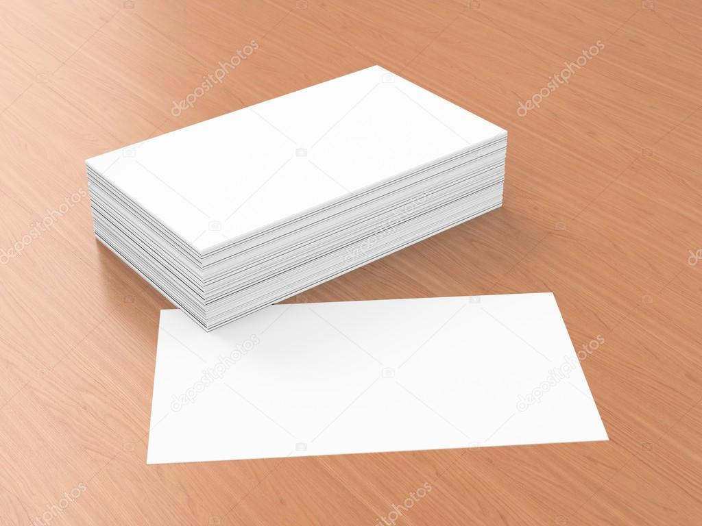 Business cards blank mockup template stock photo for Business card 3d template