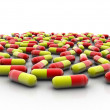 Stock Photo: Red and yellow capsules